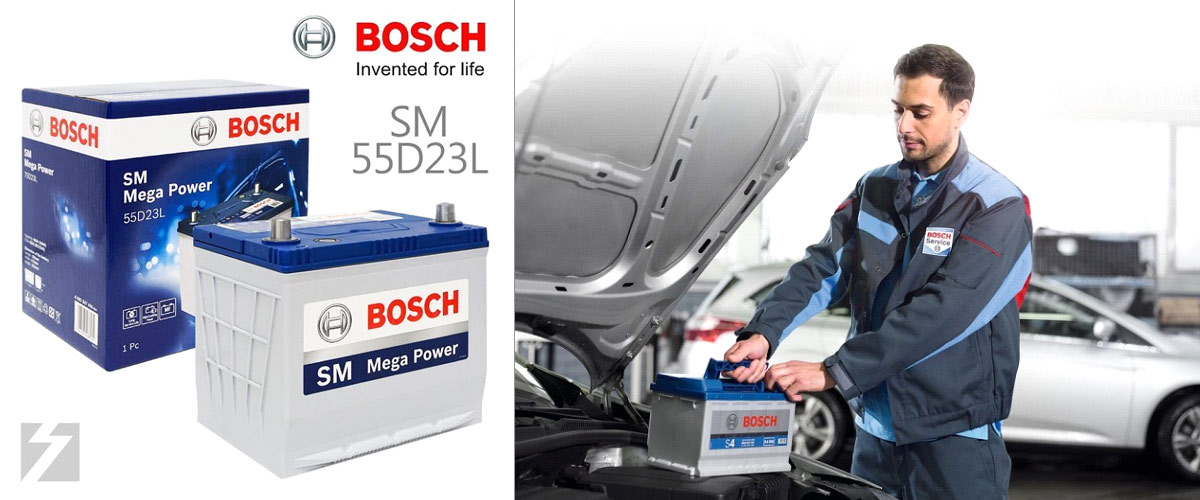 Bosch car, boat and caravan batteries